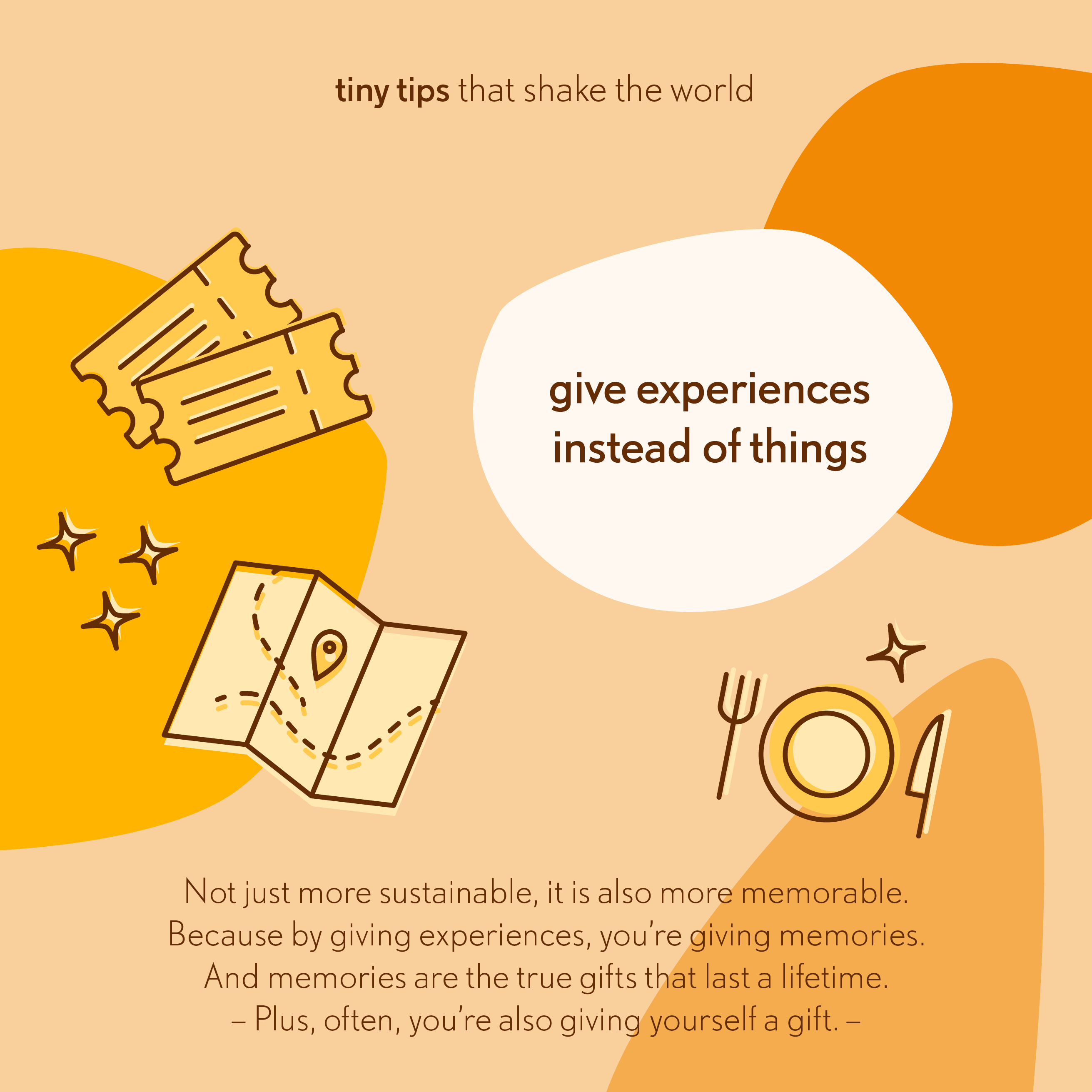 20191218 Give experiences instead of things Tiny tips that shake the world 2
