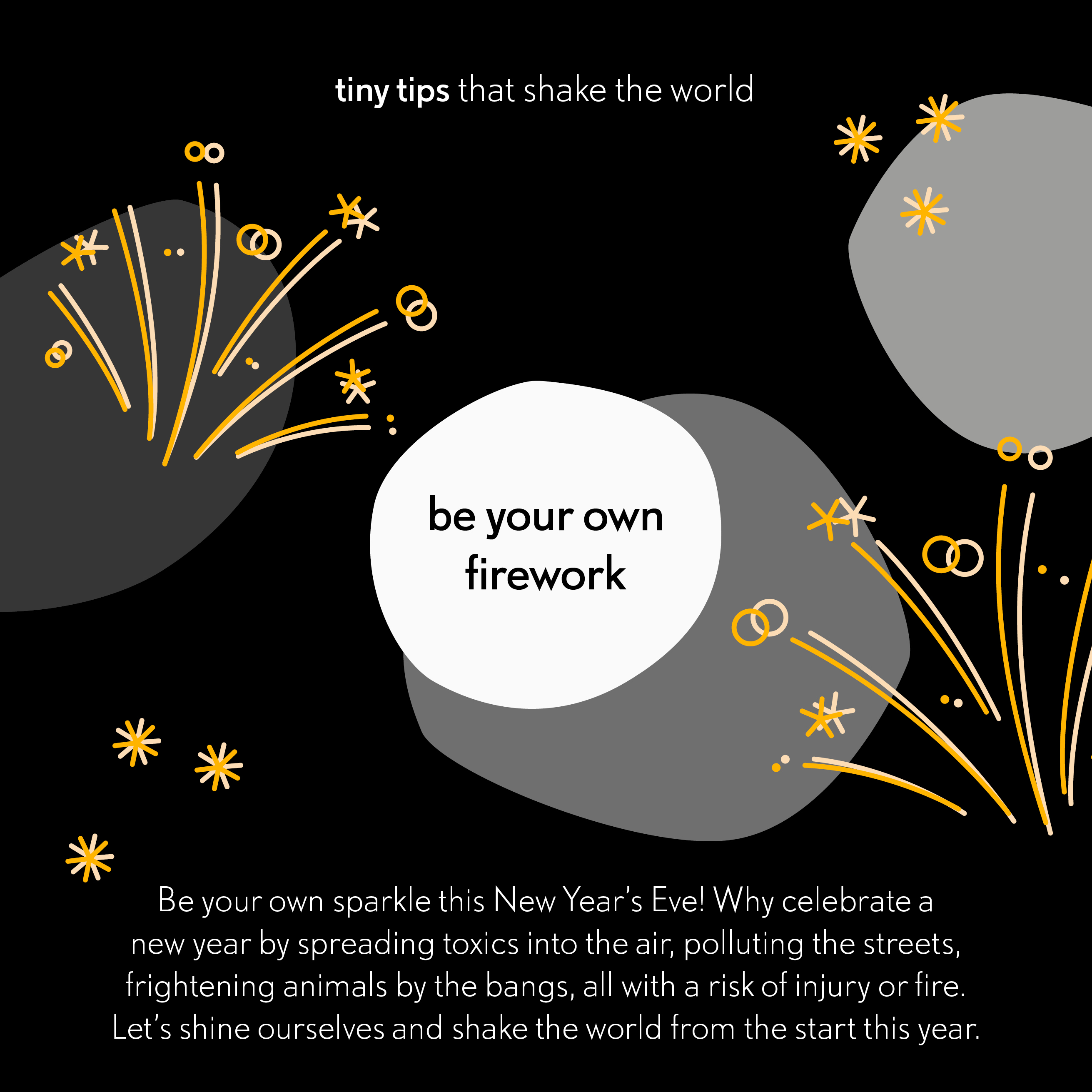 20191231 be your own firework - tiny tips that shake the world